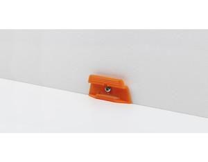 Leistenclip orange für ASL 3 und ASL 6, inkl. Schrauben und Dübel, 24 Stück für 10 lfm