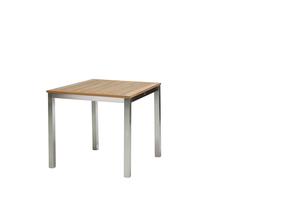 San Remo Tisch 90 cm Edelstahl/Teak