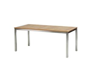 San Remo Tisch 180 cm Edelstahl/Teak