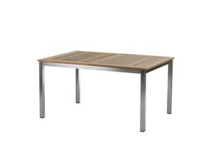 Roma Tisch 150 ? 200 cm Edelstahl/Teak