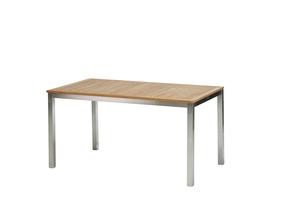 San Remo Tisch 150 cm Edelstahl/Teak