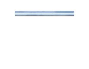 SYSTEM Dekorprofil Glas/Delta flach Set 178x15cm