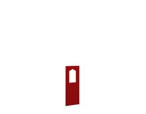 WINNETOO Fensterwand pflegeleicht rot 90x138cm
