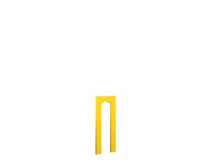WINNETOO Türwand pflegeleicht gelb 90x138cm