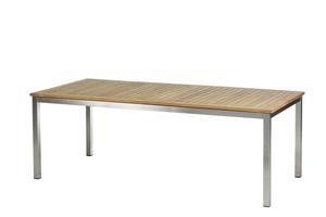 Roma Tisch 220 ? 300 cm Edelstahl/Teak