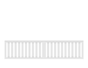 LONGLIFE CLEO-Doppeltor, weiß (310 x 85)