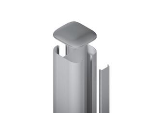 SYSTEM Pfosten basic silber zum aufschrauben 193x7x7cm