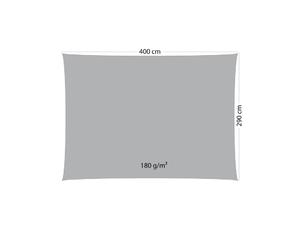 Sonnensegel anthrazit 180 g / qm (400 x 290)