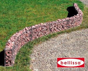 Mauergitter f. gerade u. geschw. Mauern ( L464xH20xT10 cm inkl. Bodenanker)