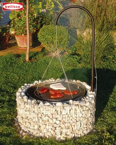 Feuer-u. Grillstelle Ø 92/72 cm H40 cm (inkl.Grillrost Galgen + Ketten)