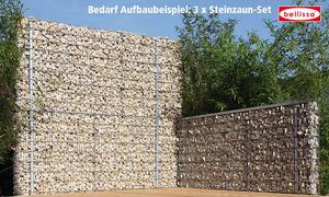 Steinzaun-Set 2000 x 900 x 120 mm, (inkl. Montagezubehör zur Erhöhung)