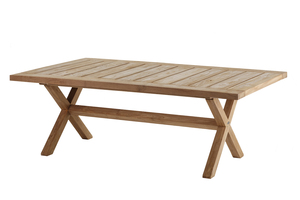 Boulogne Low Dining Tisch 140cm Recycled (Teak Natur)