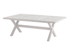 Boulogne Low Dining Tisch 140cm Recycled (Teak Seawash)