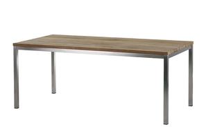 Barletta Tisch 180 cm Edelstahl/ (Recycled Teak)
