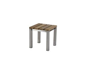 Piero Bank  45 cm ? Edelstahl/ (Recycled Teak)