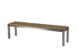 Piero Bank 180 cm ? Edelstahl/ (Recycled Teak)