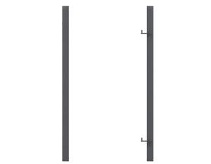 Torpfosten Einzeltor (2er-Set), Metall, anthrazit 8x8x255cm