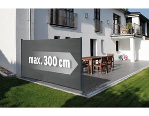Seitenmarkise grau Basic 160x300cm