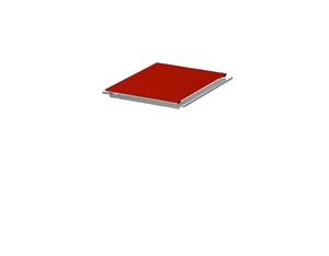 BINTO Klappdeckel HPL rot