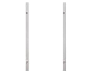 Torpfosten Doppeltor (2er-Set), Metall, (silber 8x8x255cm)