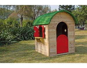 JAN Kinderspielhaus B103xT118xH130cm (Fichte, teilweise farbig behandelt)