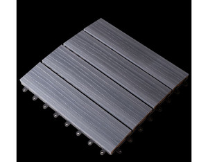Solid Klickfliese co-extrudiert (Steingrau 30x30cm)