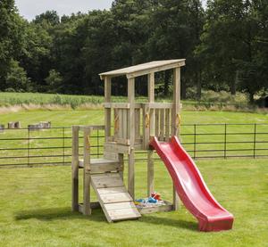 Spielturm Max (mit Wellenrutsche 228 cm apfelgrün)