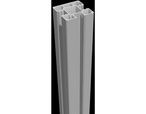 Lumino Steckpfosten 100cm Silbergrau 9x9