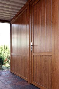 BasicLine Carport mit Geräteraum (319x245x208 Golden Oak)