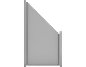Premo HPL-Sichtschutzelement, schräg Uni (Grau 90x180/90cm)
