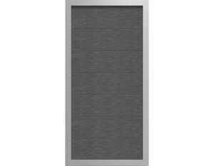 Viento Designzaun 90x180cm Ziegelgrau