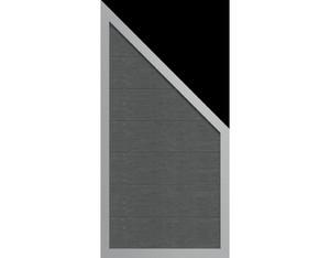 Viento Designzaun 90x180/90cm Ziegelgrau