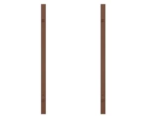 Torpfosten Doppeltor (2er-Set), Metall, braun 8x8x255cm