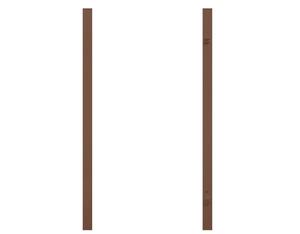 Torpfosten Einzeltor (2er-Set), Metall, braun 8x8x255cm