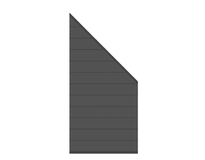 SYSTEM Zaun-Anschluss-Set ALU anthrazit 89x180cm