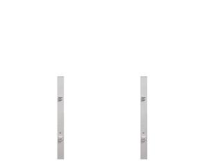 Torpfosten Doppeltor Vorgarten (2er-Set) silber Metall, 8x8x150cm