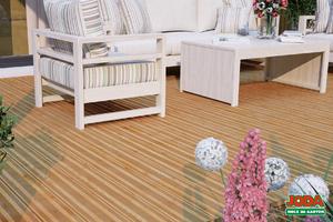 Komplett-Terrasse 3 x 3 m 24 x 138 mm (Lärche französiches Profil)