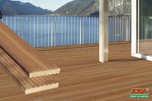 Komplett-Terrasse 3,05 x 3,97 m (Bangkirai 25 x 145 mm)
