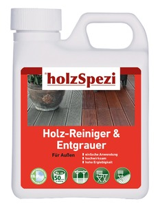 holzSpezi Holz-Reiniger & Entgrauer (farblos, 2,5 Liter)
