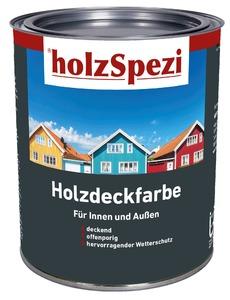 holzSpezi Holzdeckfarbe (schwarzgrau, 0,75 Liter)