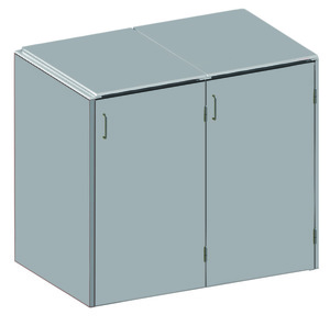 BINTO HPL grau Variante/Set 2 er Box, HPL-Deckel