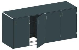 BINTO HPL schiefer Variante/Set 4 er Box, HPL-Deckel