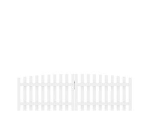 LONGLIFE CARA XL Doppeltor rund, weiß 310x90(100)cm